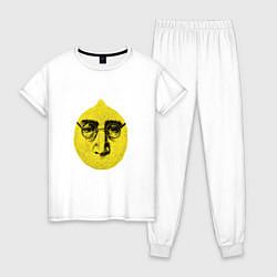 Пижама хлопковая женская John Lemon цвета белый — фото 1