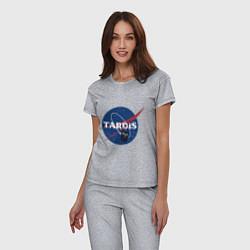 Пижама хлопковая женская Tardis NASA цвета меланж — фото 2