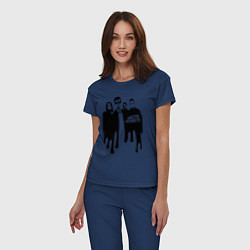 Пижама хлопковая женская Arctic Monkeys цвета тёмно-синий — фото 2
