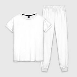 Пижама хлопковая женская Limited Edition 1975 цвета белый — фото 1