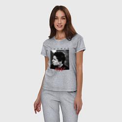 Пижама хлопковая женская Thomas Mraz цвета меланж — фото 2