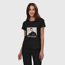 Пижама хлопковая женская Jah Khalib: Dark Style цвета черный — фото 2