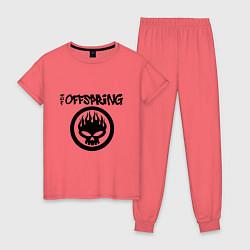 Пижама хлопковая женская The Offspring цвета коралловый — фото 1