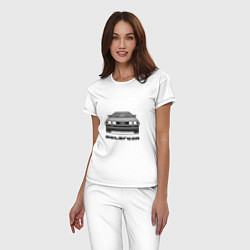 Пижама хлопковая женская DeLorean цвета белый — фото 2