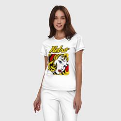 Пижама хлопковая женская Retro girl цвета белый — фото 2