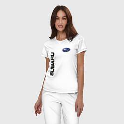 Пижама хлопковая женская Subaru Style цвета белый — фото 2