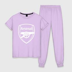 Пижама хлопковая женская FC Arsenal цвета лаванда — фото 1