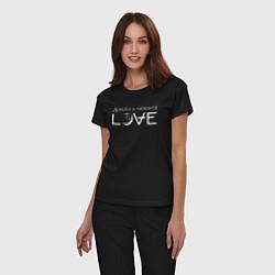 Пижама хлопковая женская Love AVA цвета черный — фото 2