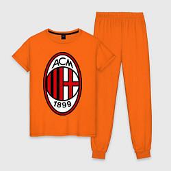 Пижама хлопковая женская Milan ACM цвета оранжевый — фото 1