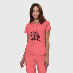 Пижама хлопковая женская Don't Starve цвета коралловый — фото 2