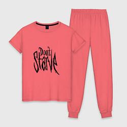 Пижама хлопковая женская Don't Starve цвета коралловый — фото 1