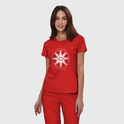 Пижама хлопковая женская TES: Mages Guild цвета красный — фото 2