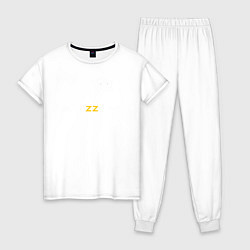Пижама хлопковая женская Brazzers: Sexy Style цвета белый — фото 1