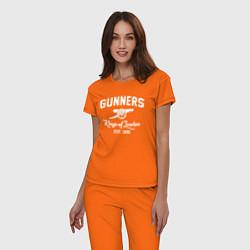 Пижама хлопковая женская Arsenal Guinners цвета оранжевый — фото 2