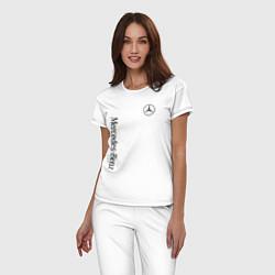 Пижама хлопковая женская MERCEDES-BENZ цвета белый — фото 2