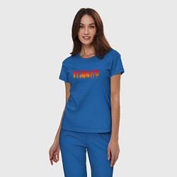 Пижама хлопковая женская ESCAPE FROM TARKOV цвета синий — фото 2