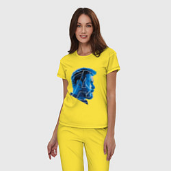 Пижама хлопковая женская Thor: Avengers цвета желтый — фото 2