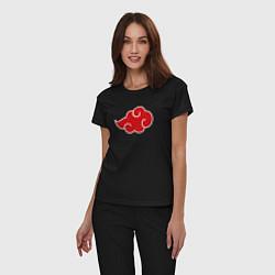 Пижама хлопковая женская СЕМПАЙ - SENPAI цвета черный — фото 2
