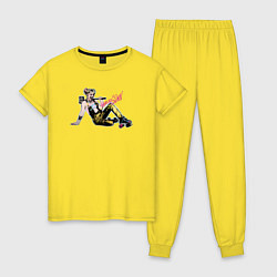 Пижама хлопковая женская Harley Quinn цвета желтый — фото 1