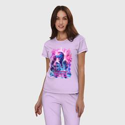 Пижама хлопковая женская Muse цвета лаванда — фото 2
