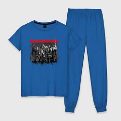 Пижама хлопковая женская RAMMSTEIN цвета синий — фото 1