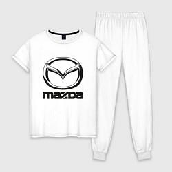 Пижама хлопковая женская MAZDA LOGO цвета белый — фото 1