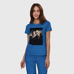 Пижама хлопковая женская Winchester Brothers цвета синий — фото 2