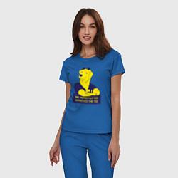 Пижама хлопковая женская Mr Peanutbutter цвета синий — фото 2