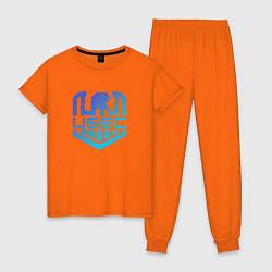 Пижама хлопковая женская Escape from Tarkov спина Z цвета оранжевый — фото 1
