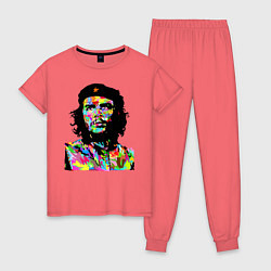 Пижама хлопковая женская Che цвета коралловый — фото 1