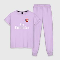 Пижама хлопковая женская ARSENAL цвета лаванда — фото 1