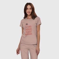 Пижама хлопковая женская Jack-Jack Parr цвета пыльно-розовый — фото 2