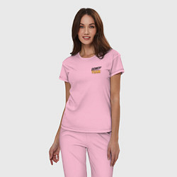 Пижама хлопковая женская Dewey Team цвета светло-розовый — фото 2