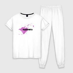 Пижама хлопковая женская Любимка цвета белый — фото 1
