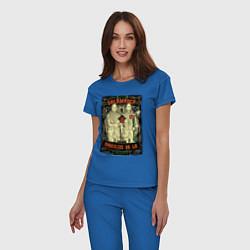 Пижама хлопковая женская Братья Саламанка цвета синий — фото 2