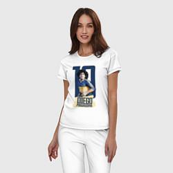 Пижама хлопковая женская 10 number цвета белый — фото 2