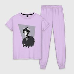 Пижама хлопковая женская Dont Starve цвета лаванда — фото 1