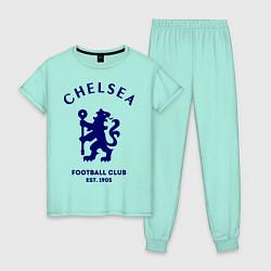 Пижама хлопковая женская Chelsea Est. 1905 цвета мятный — фото 1