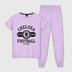 Пижама хлопковая женская Chelsea Football Club цвета лаванда — фото 1