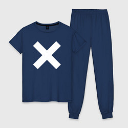 Пижама хлопковая женская The XX: Angels цвета тёмно-синий — фото 1