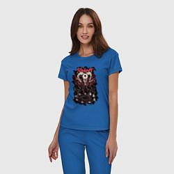 Пижама хлопковая женская Slipknot Pentagram цвета синий — фото 2