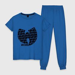 Пижама хлопковая женская Wu-Tang Clan: Symbol цвета синий — фото 1