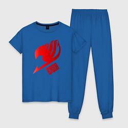 Пижама хлопковая женская Эльза цвета синий — фото 1