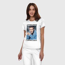 Пижама хлопковая женская Дэвид Бекхэм: Чемпионами становятся цвета белый — фото 2
