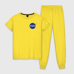 Пижама хлопковая женская NASA цвета желтый — фото 1