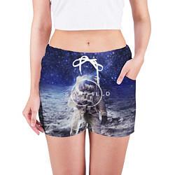 Шорты женские Starfield: Astronaut цвета 3D — фото 2