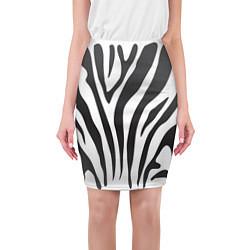Юбка-карандаш женская Африканская зебра цвета 3D-принт — фото 1