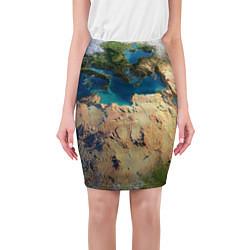 Юбка-карандаш женская Земля цвета 3D — фото 1