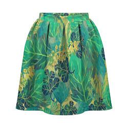 Женская юбка Узор из листьев