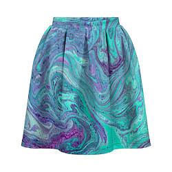 Женская юбка Смесь красок